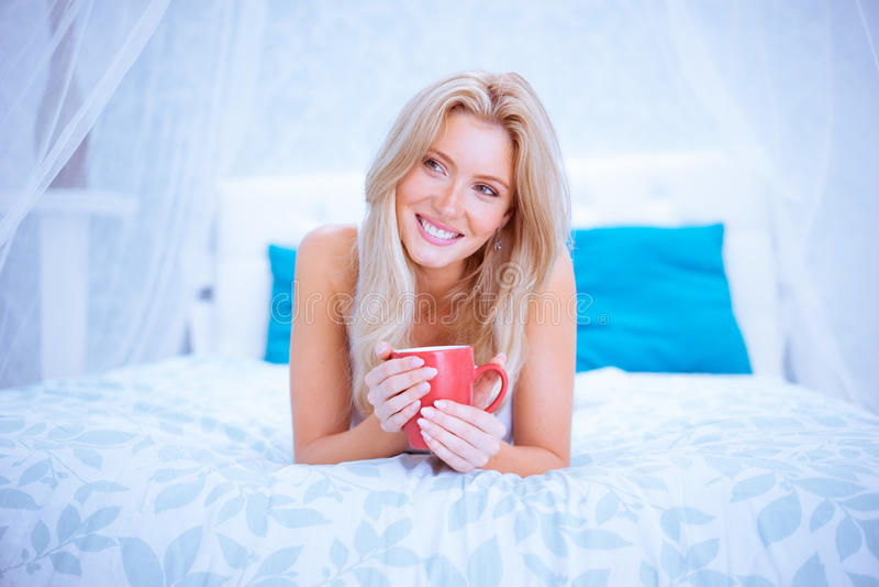 Kobieta i ranek kawa obrazy stock