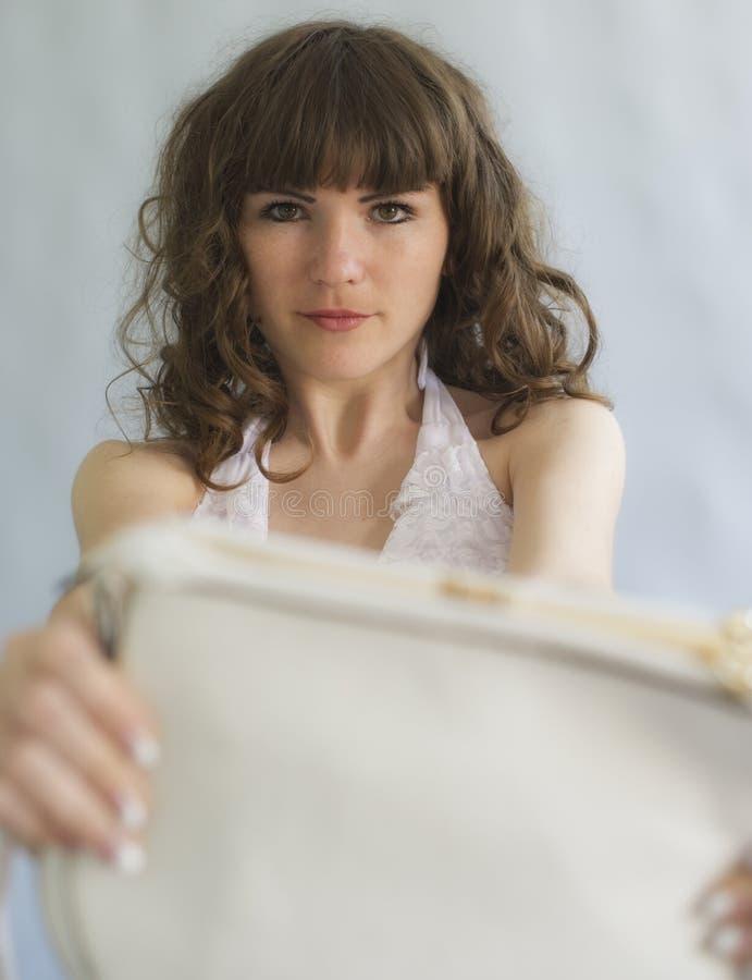 Kobieta i torebka obrazy stock