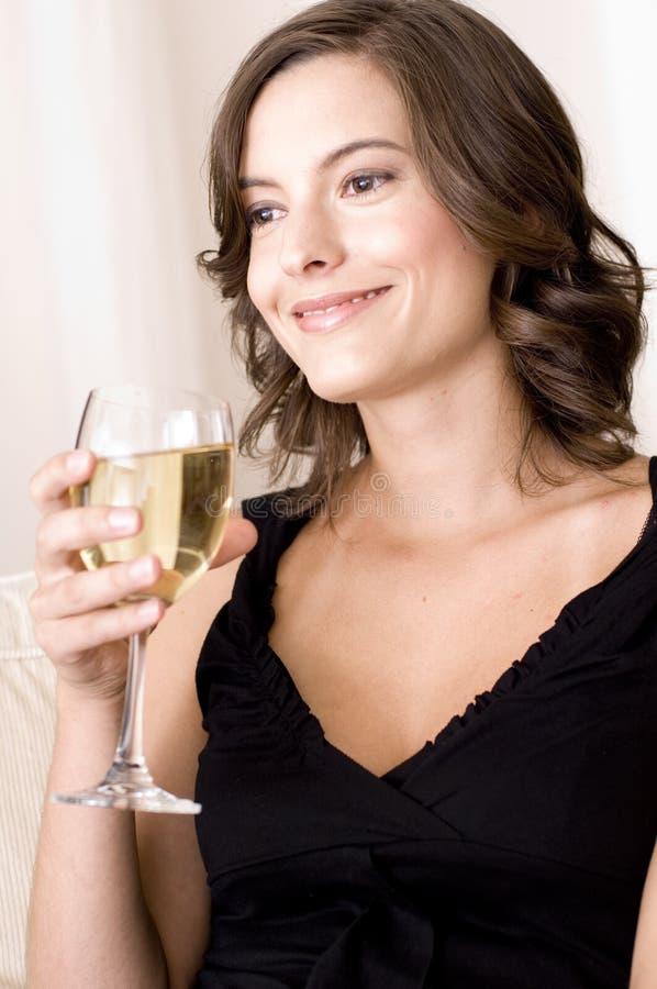 Kobieta I Wino zdjęcia royalty free