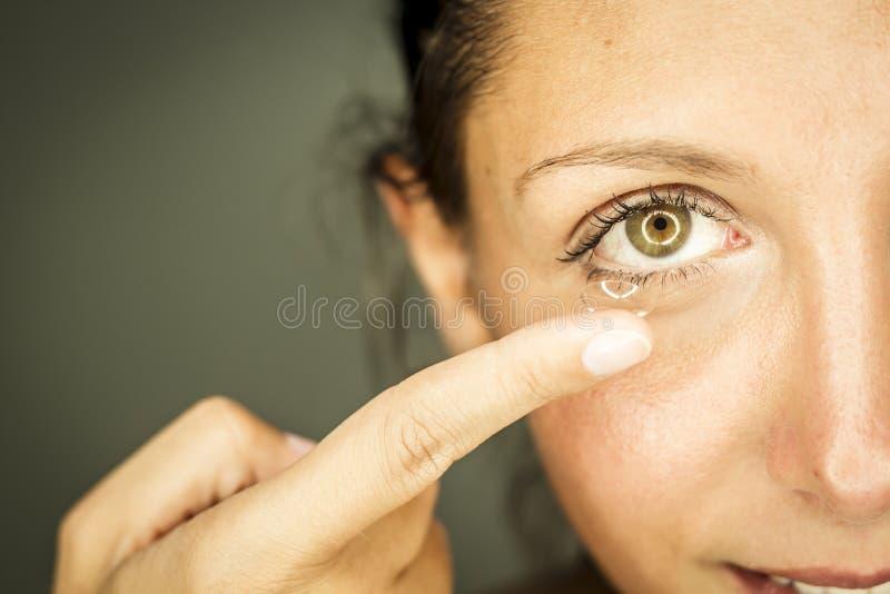 Kobieta i wzrok fotografia stock