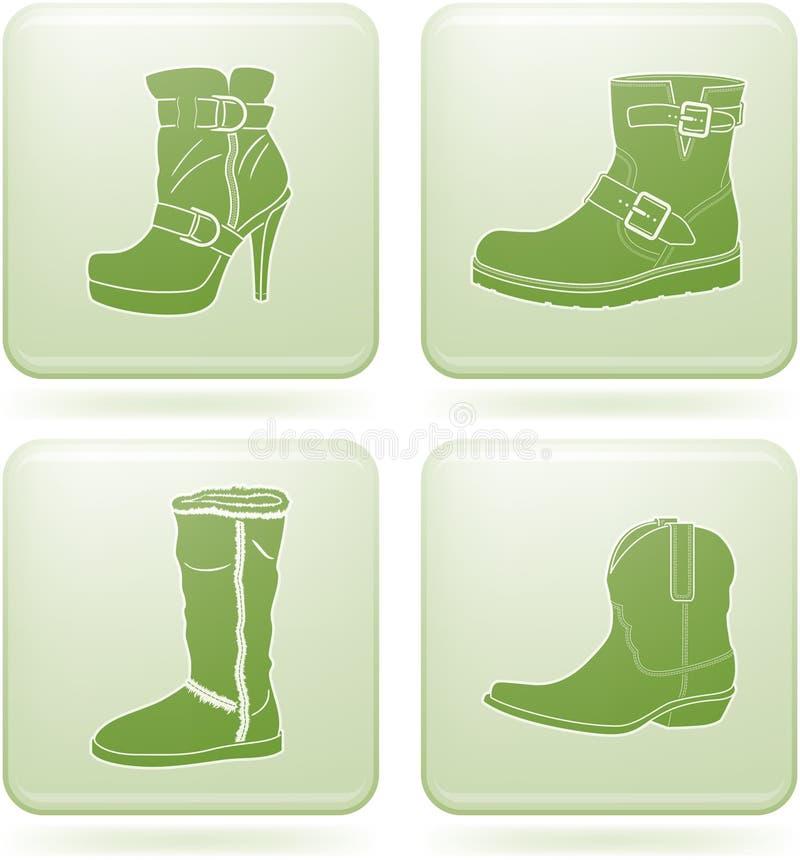 kobieta ikon olivine s ustaleni buty obciosują kobiety ilustracji
