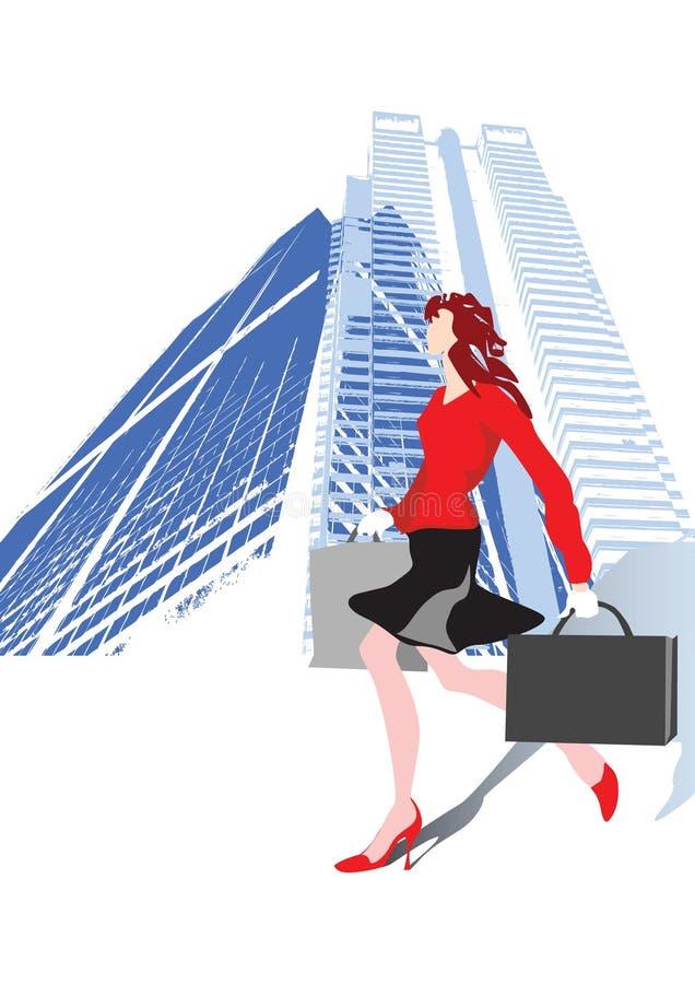 kobieta jednostek gospodarczych ilustracja wektor