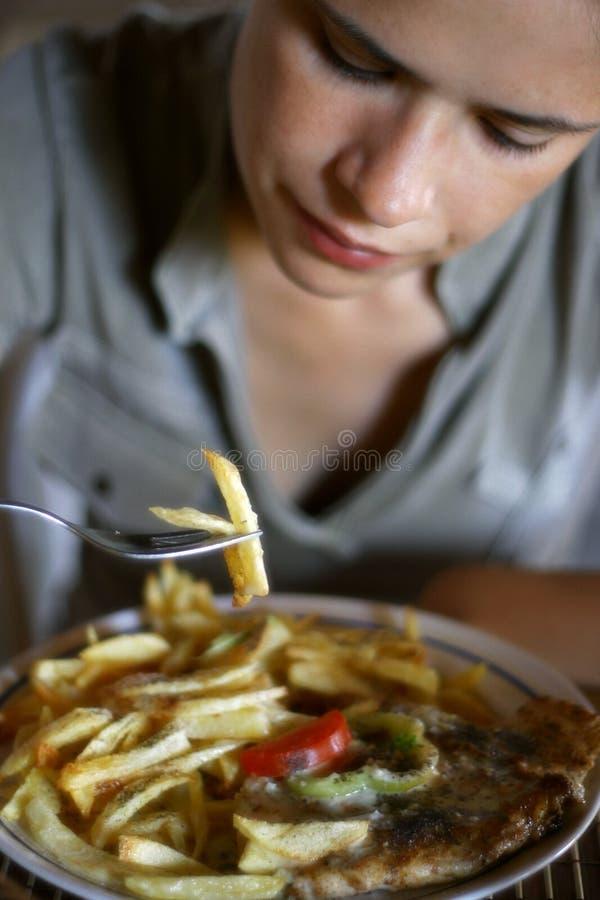 kobieta jedzenia zdjęcia royalty free