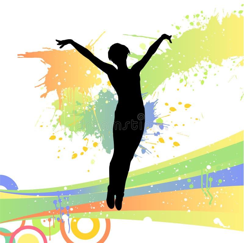 kobieta jumping ilustracja wektor