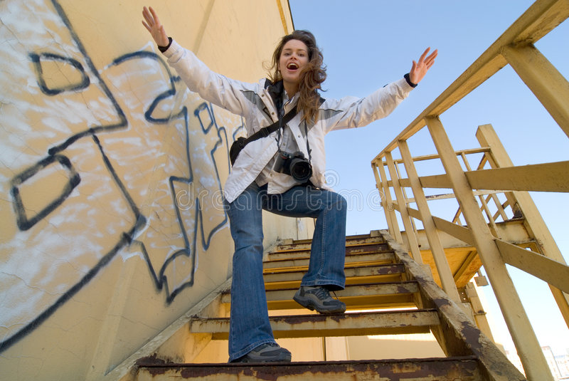 kobieta kamery zdjęcie stock