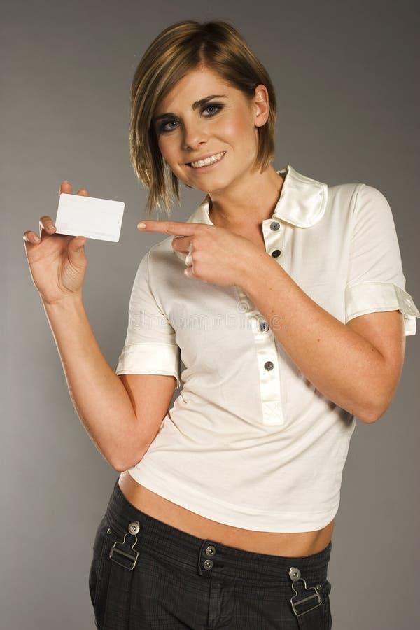 kobieta karty obrazy stock