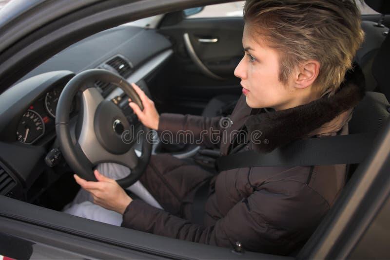 kobieta kierowcy fotografia royalty free