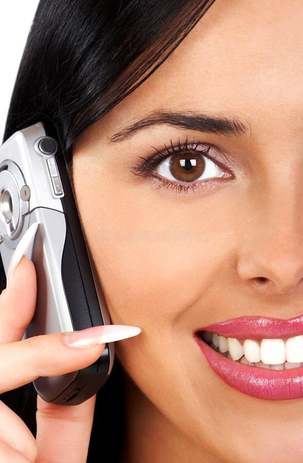 kobieta komórkowego telefonu zdjęcia stock