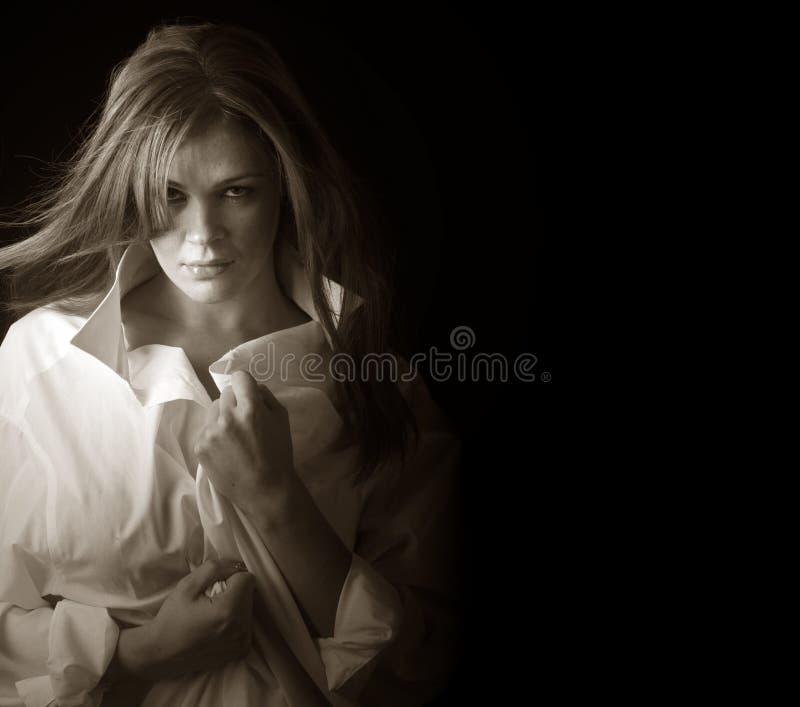 kobieta koszulowa obraz stock
