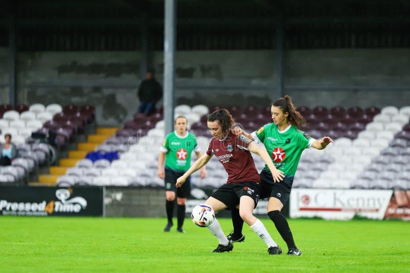 Kobieta Krajowego ligi gra: Galway WFC vs Peamount Jednoczył zdjęcie stock