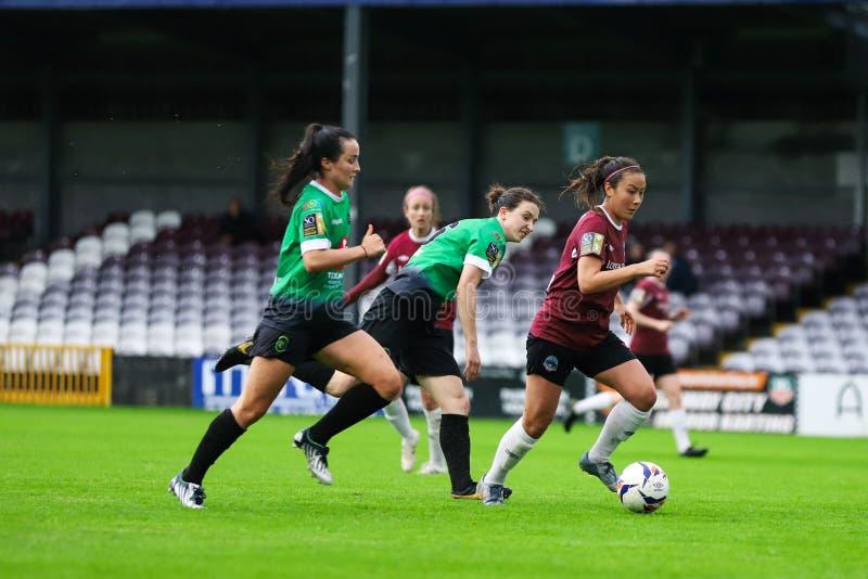 Kobieta Krajowego ligi gra: Galway WFC vs Peamount Jednoczył obraz royalty free