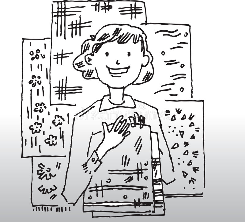 Kobieta kreskówka wizerunek royalty ilustracja