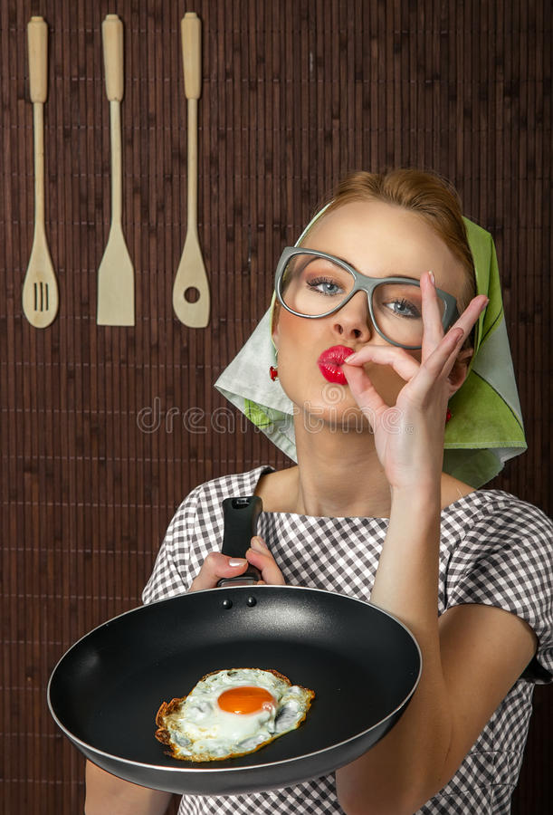 Kobieta kucharz zdjęcia stock