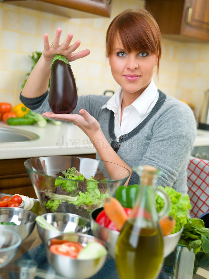 kobieta kuchennych obrazy royalty free