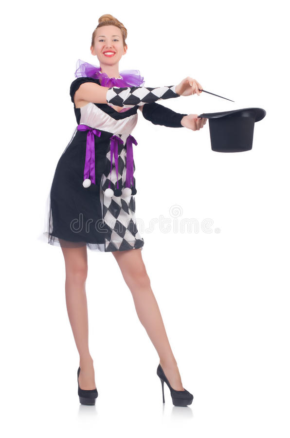 Kobieta magik fotografia royalty free