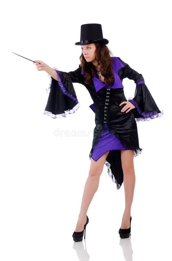 Kobieta magik obraz royalty free