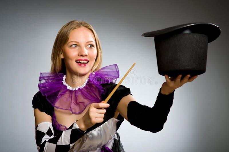 Kobieta magik obrazy royalty free