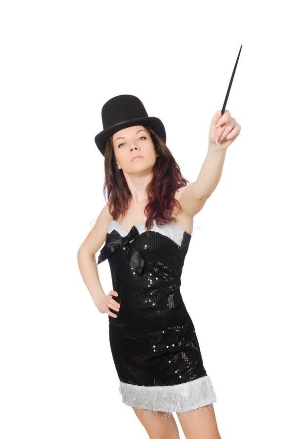 Kobieta magik odizolowywający zdjęcia royalty free