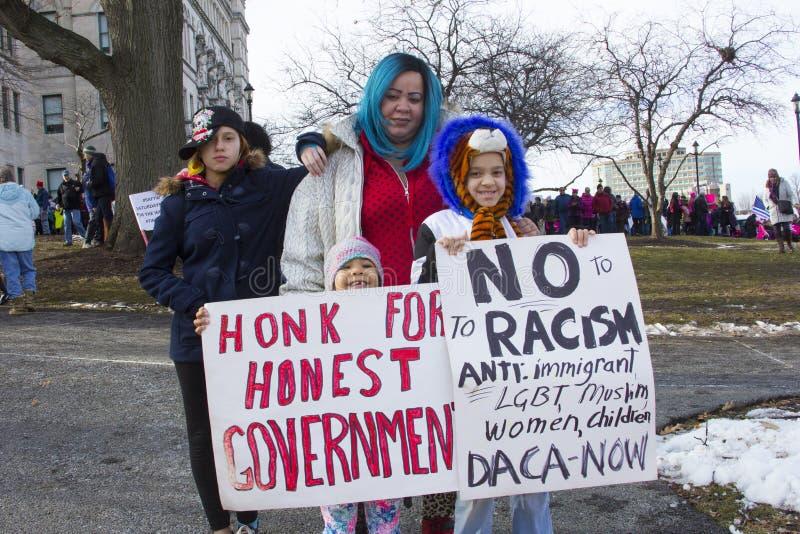 Kobieta marsz Hartford Connecticut fotografia stock