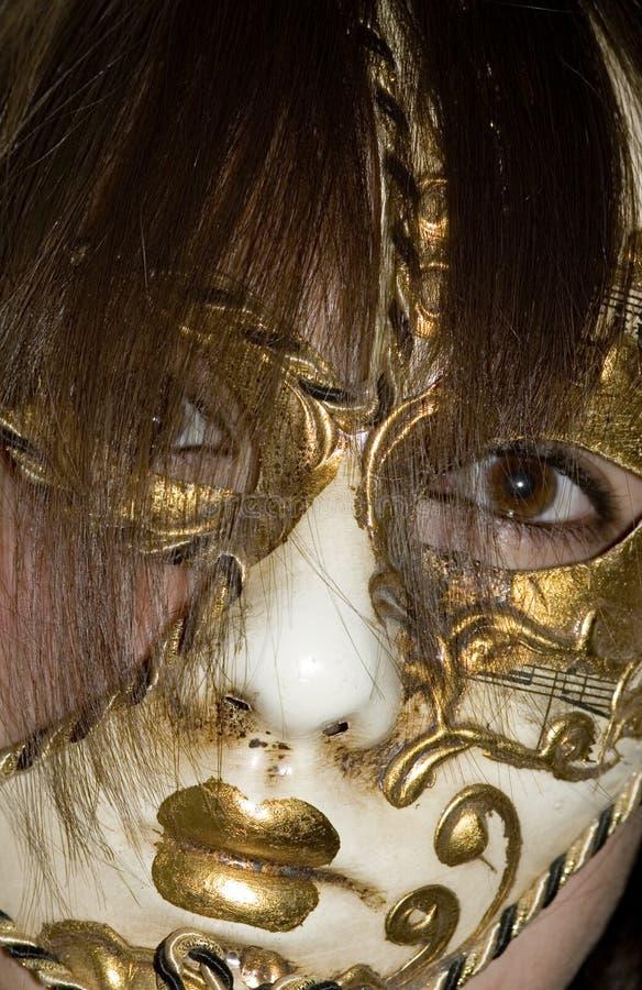 kobieta maskowa obraz stock