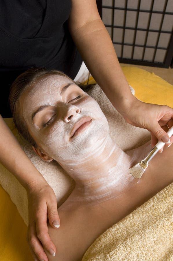 kobieta maskowa facial zdjęcie royalty free