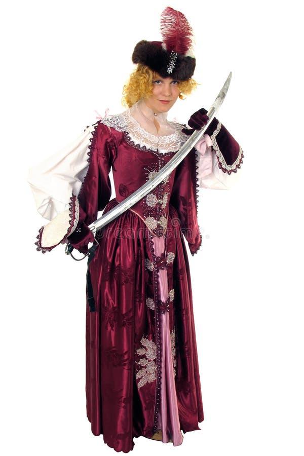 kobieta miecz. obrazy royalty free