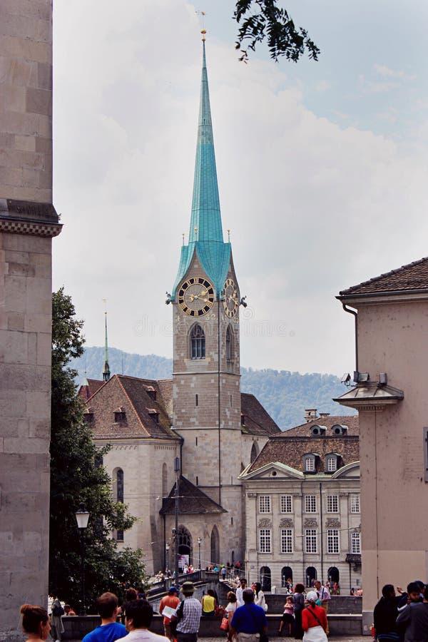 Kobieta ministra opactwo w Zurich fotografia stock