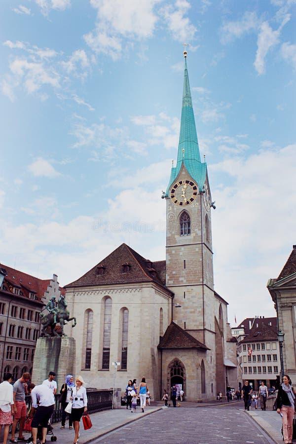 Kobieta ministra opactwo w Zurich zdjęcie stock