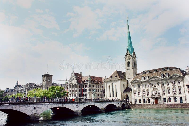 Kobieta ministra opactwo w Zurich zdjęcia stock