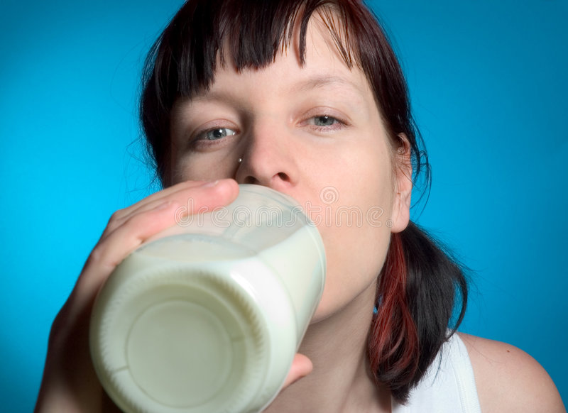 kobieta mleka obraz royalty free