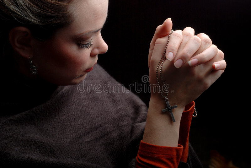 kobieta modlitwa obraz stock