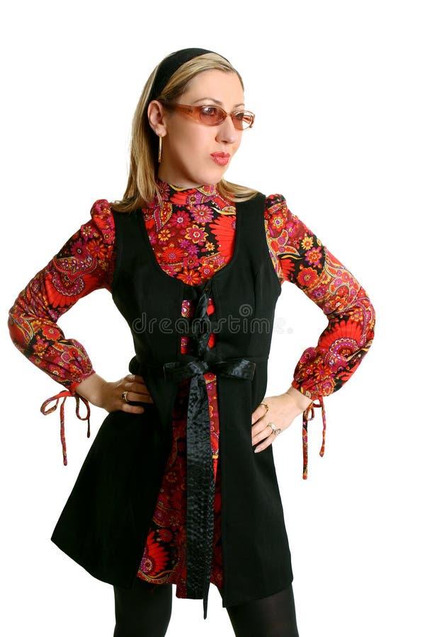 kobieta mody retro obrazy royalty free