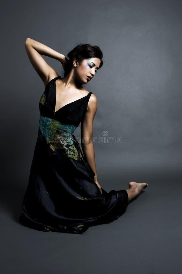 kobieta motylia fotografia royalty free
