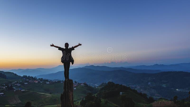 Kobieta na górze fotografia royalty free