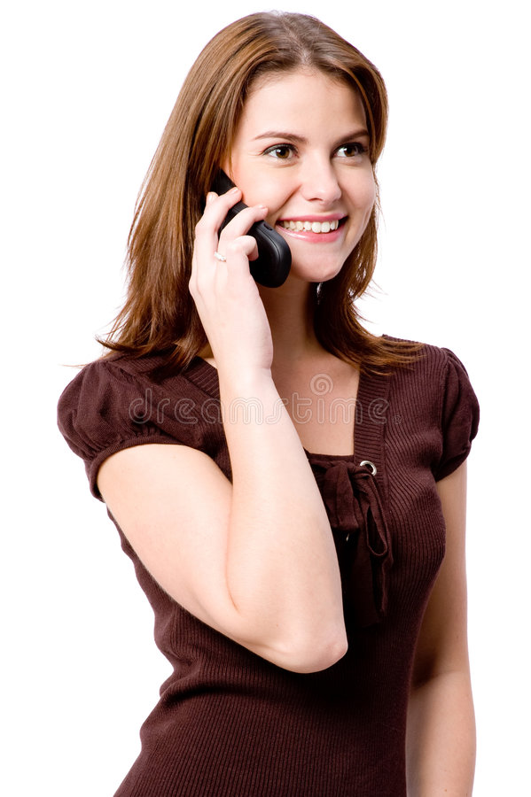 Kobieta Na Telefonie zdjęcia stock
