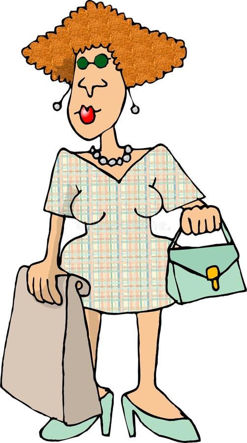 kobieta nabywcy royalty ilustracja