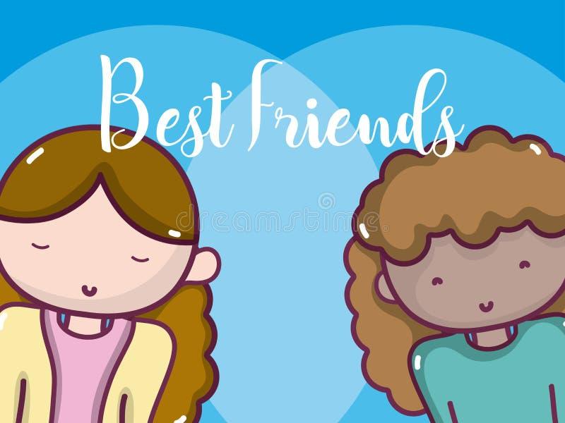 Kobieta najlepszy przyjaciele ilustracji