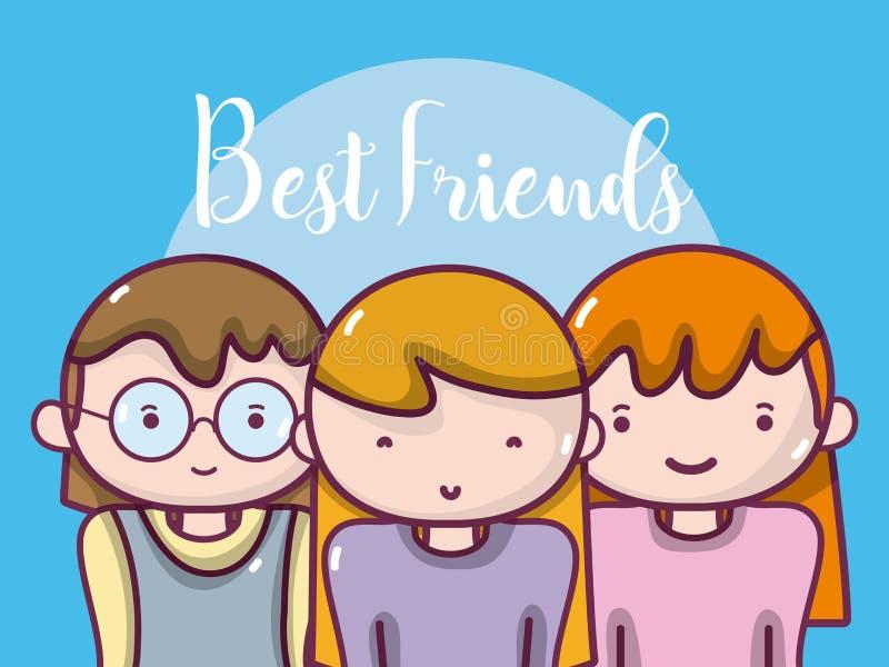 Kobieta najlepszy przyjaciele ilustracja wektor