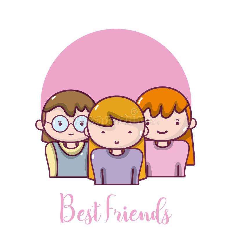 Kobieta najlepszy przyjaciele royalty ilustracja
