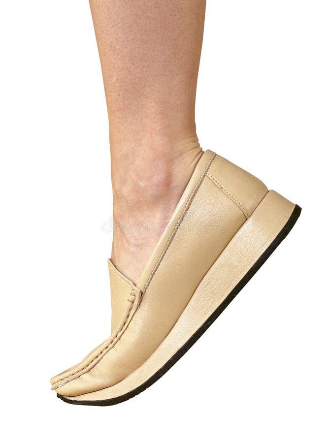 kobieta nogi kierpec buta kobieta obraz royalty free