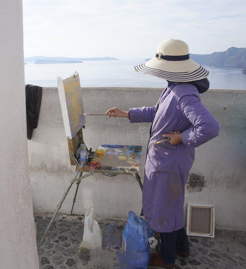 Kobieta obraz z olejami fotografia royalty free