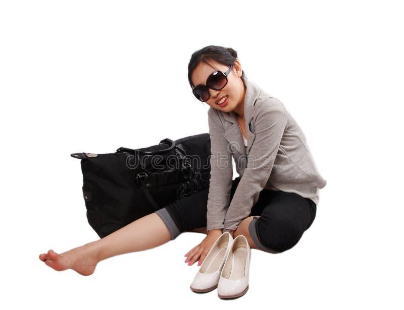 kobieta odpoczynkowa obrazy royalty free