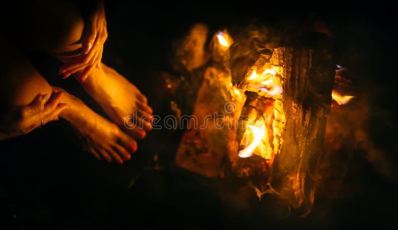 Kobieta ogień zdjęcia stock