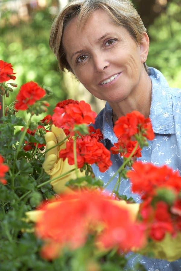 kobieta ogrodnictwo fotografia stock