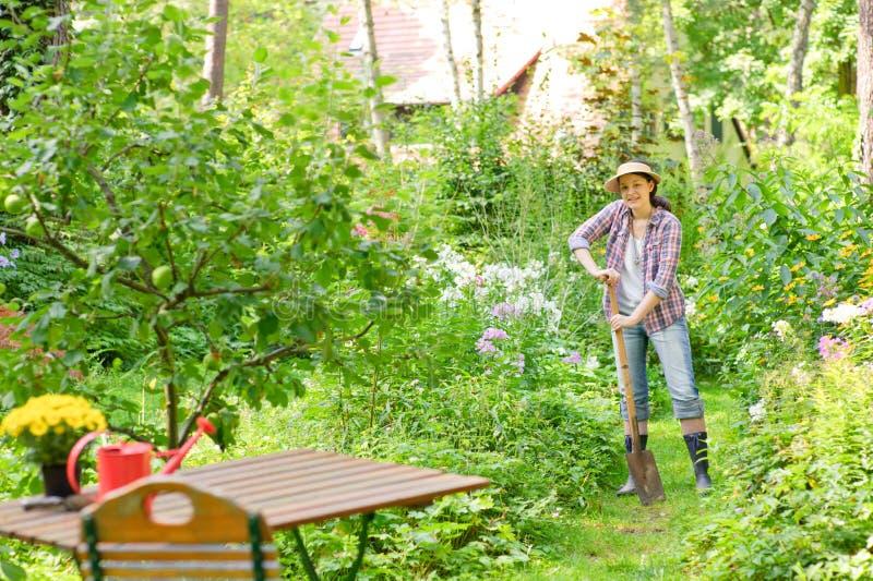 kobieta ogrodowa zdjęcie royalty free