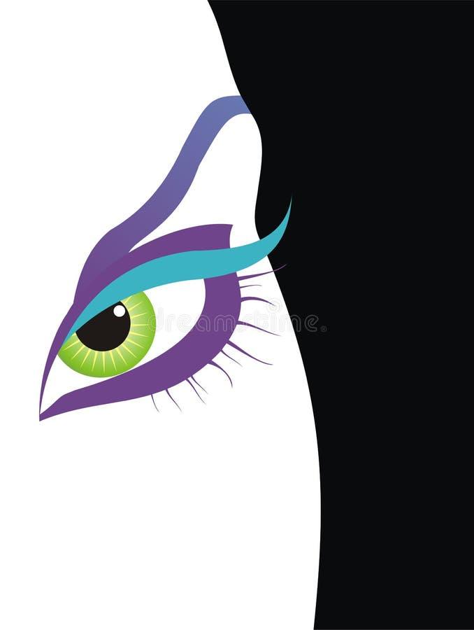 kobieta oko ilustracja wektor