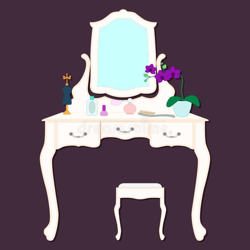 Kobieta opatrunkowy stół obrazy royalty free