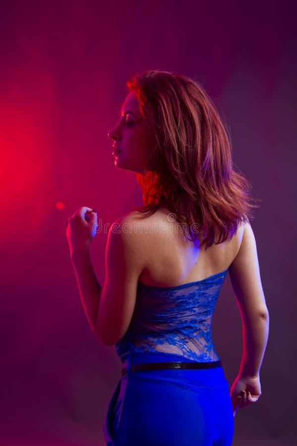 Kobieta partyjny taniec obrazy stock