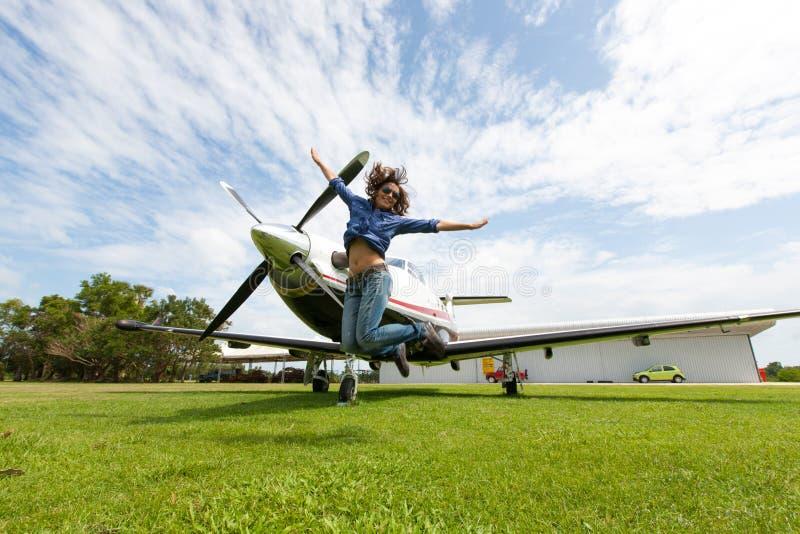 Kobieta pilot obraz stock