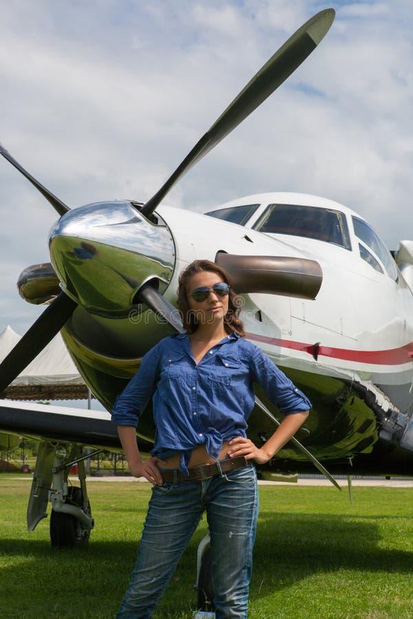 Kobieta pilot zdjęcie stock
